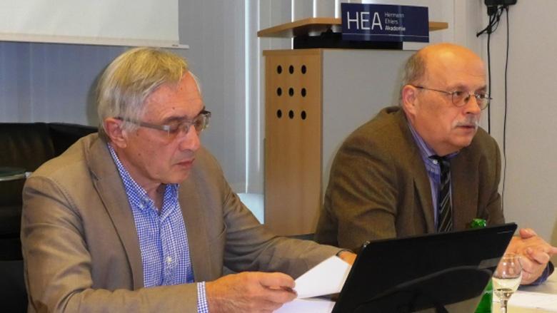 Dieter Hanel und Prof. Joachim Krause